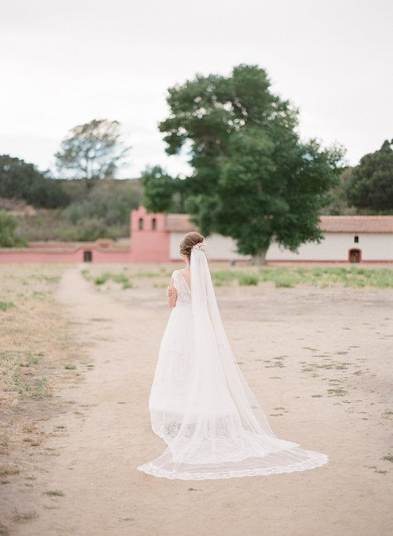 Swiss Dot Cathedral Veil Cathedral Veil Bridal by EdenLuxeBridal
