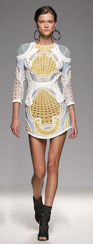 BALMAIN / Photos by Anthea Simms  Love the dress, not the shoes.