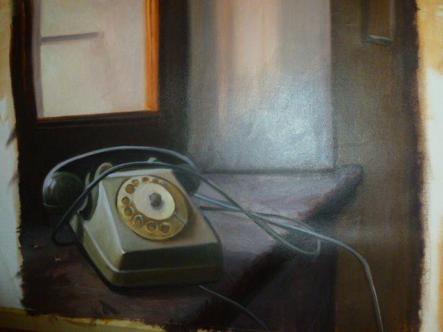 quadro olio su tela - la chiamata