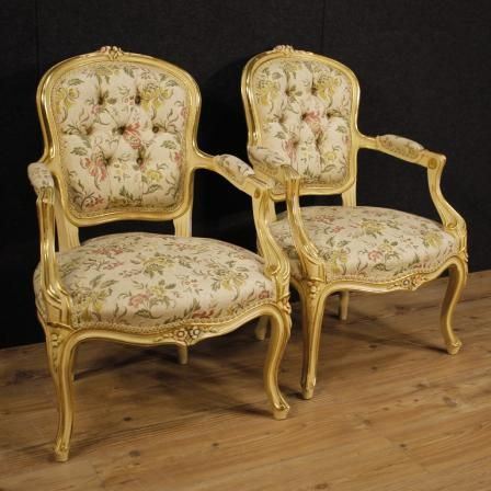 1300€ Pair of lacquered and golden Italian armchairs. Visit our website www.parino.it #antiques #antiquariato #furniture #lacquer #antiquities #antiquario #chair #armchair #fauteuil #decorative #interiordesign #homedecoration #antiqueshop #antiquestore #gold #golden #lacquered