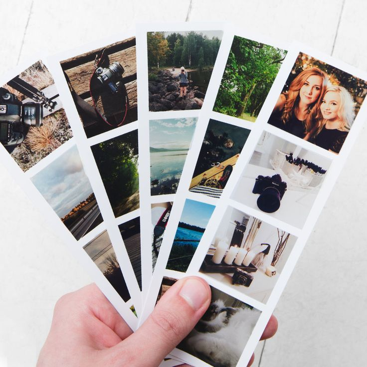 Classic photo strips with your own Instagram photos!