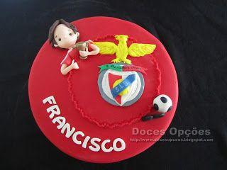 Doces Opções: Bolo para o aniversário do benfiquista Francisco