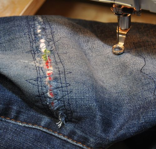 Neat way to patch jeans