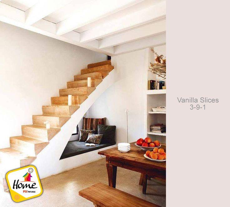 Un color clara hará que tu hogar se vea iluminada y más amplia... aprovecha el espacio bajo la escalera...