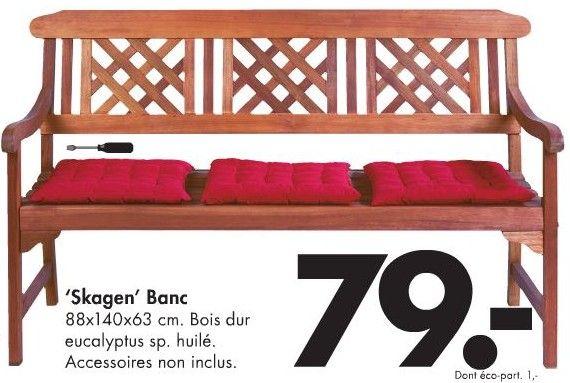 banc en bois skagen casa dans mon jardin pinterest skagen. Black Bedroom Furniture Sets. Home Design Ideas