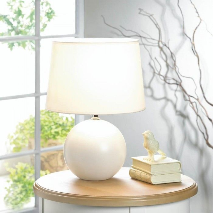 White Round Base Table Lamp Unbranded Round Table Lamp Table Lamps For Bedroom Small Table Lamp