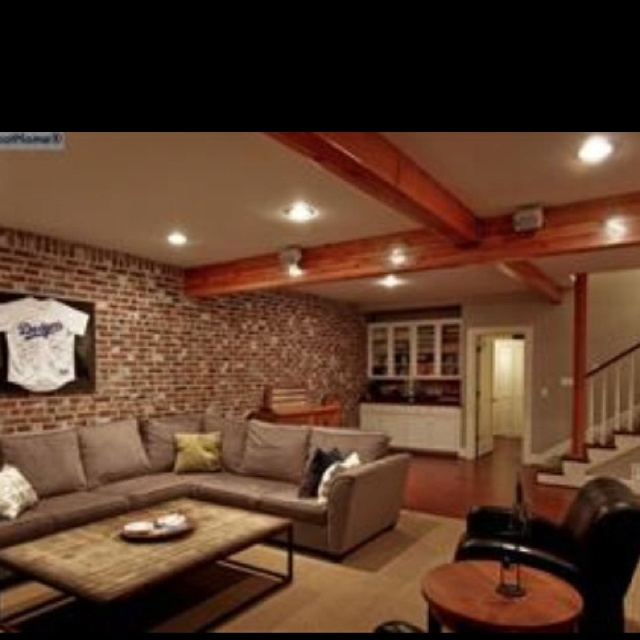 Basement Family Room : Basement family room....very cozy  decorating  Pinterest