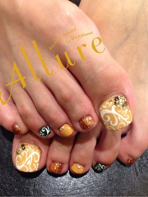 25 best ideas about fall toe nails on pinterest