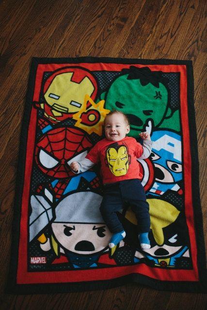 Marvel Kawaii Toddler Baby Blanket on Etsy, $70.00