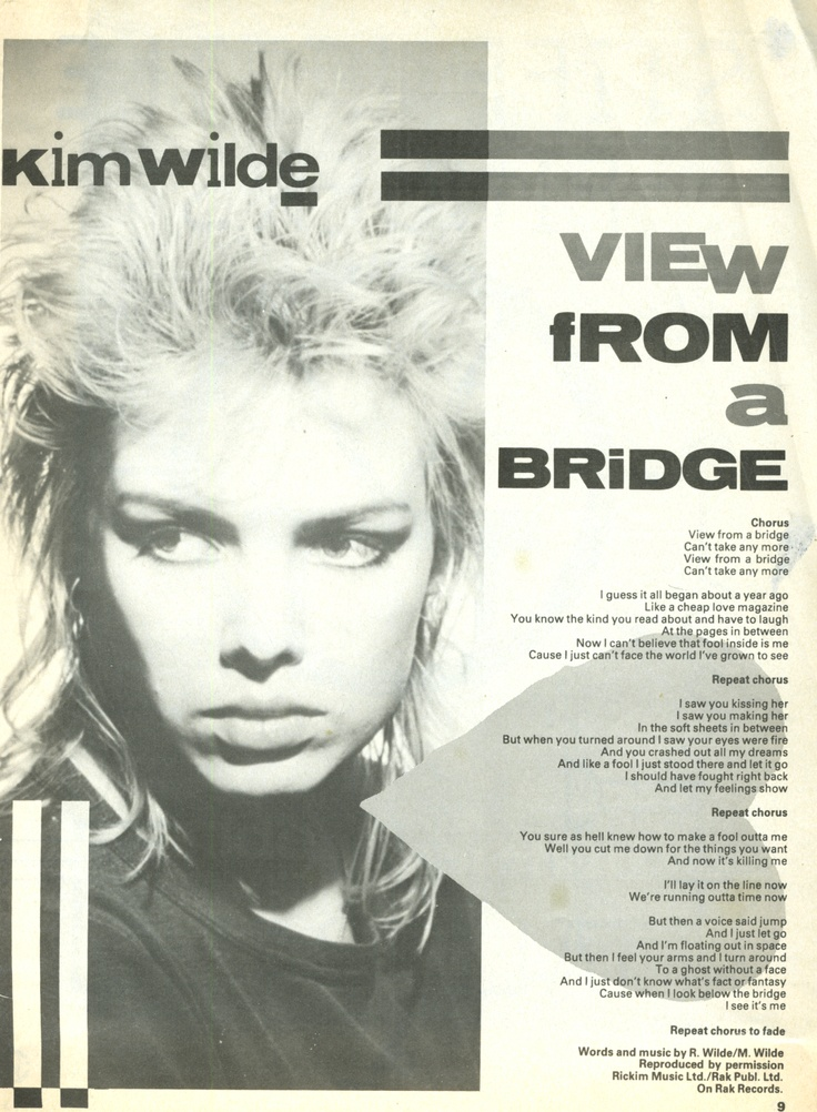 View from a bridge - Taken from: Smash Hits (UK)