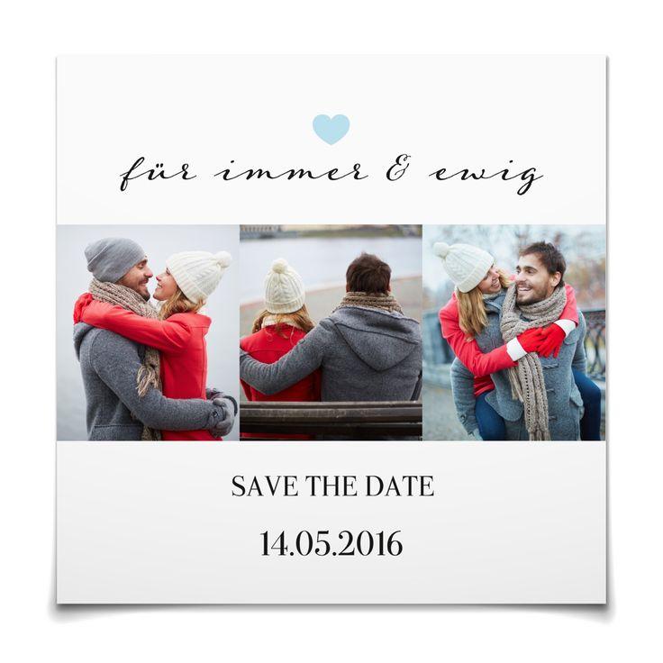 Save the Date Für immer und ewig in Himmelblau - Postkarte quadratisch #Hochzeit #Hochzeitskarten #SaveTheDate #elegant #Foto #modern https://www.goldbek.de/hochzeit/hochzeitskarten/save-the-date/save-the-date-fuer-immer-und-ewig?color=himmelblau&design=1eff3&utm_campaign=autoproducts