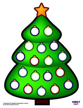 A reinforcer to use with magnetic chips/bingo chips/ink daubers. Print and laminate color copies for repeated use. Black and white version included for ink dauber use.   Happy Holidays!   Created by MrsTslp. Art by MrsTslp.  For individual therapist/teacher use only.