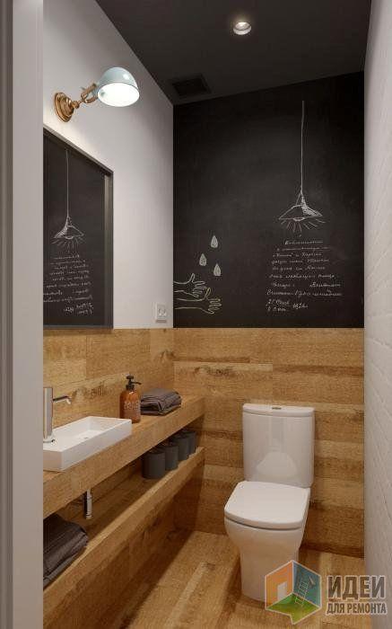 Дизайн-проект в таунхаусе, санузел отделка дерево