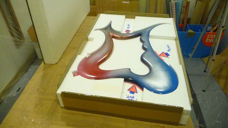 Dali in a secure solid foam box...