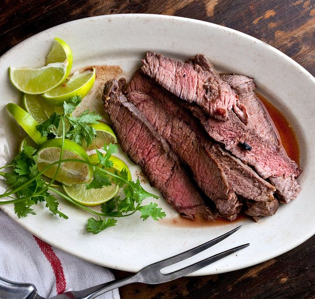 London Broil Grilled w/ Chipotle - Had a similar recipe like this from Bon Appetit 28+ years ago.  First time I ever used Chipotle peppers and had to search far and wide for peppers ~ found in a Cuban store in Arlington, VA-