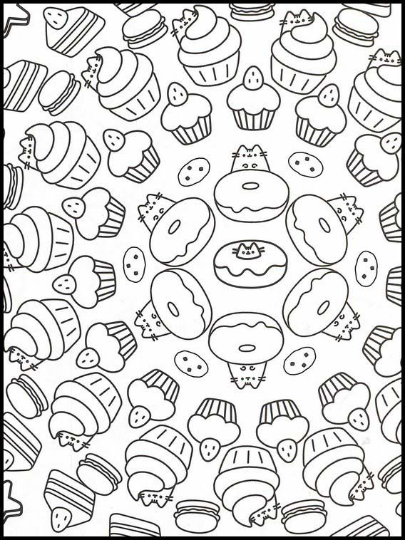 Pusheen 36 Printable Coloring Pages For Kids Printable Coloring Book Pusheen Coloring Pages Coloring Pages For Kids