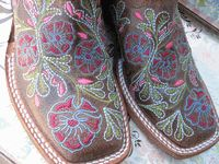 "Ladies ""Thundercat"" Embroidered Floral Macie Bean Boots by Anderson Bean I have these boots and love them!!!!!"