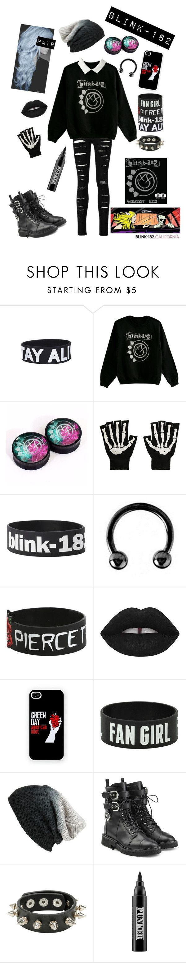 """""""Blink-182 Set 2"""" by chemicalfallout249 ❤ liked on Polyvore featuring Urbiana, Lime Crime, BP., Giuseppe Zanotti and Ardency Inn"""