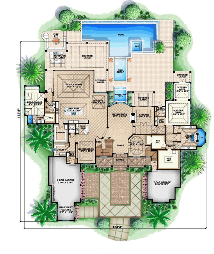 Coastal Style House Plans   8899 Square Foot Home , 2 Story, 5 Bedroom And  5 Bath, 4 Garage Stalls By Monster House Plans   Plan