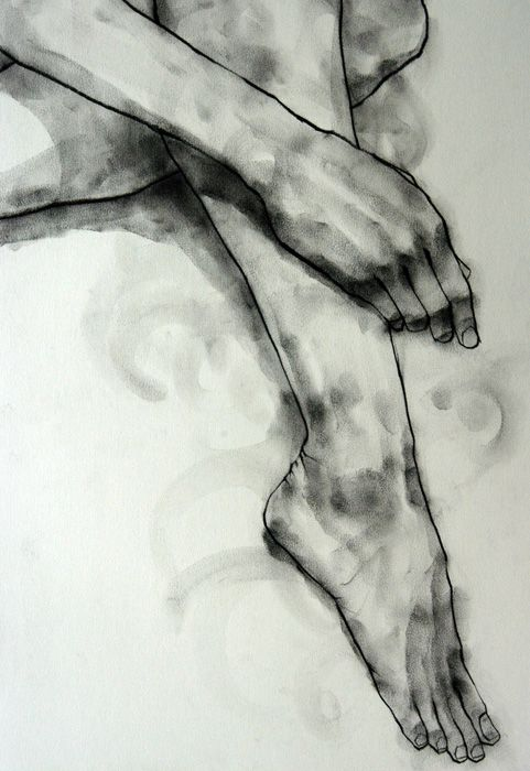 Drawing by Phillip Dvorak, charcoal on paper