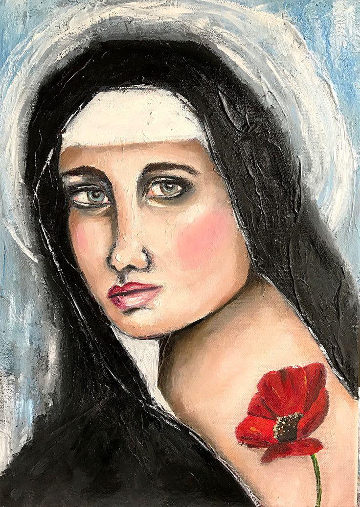 'Poppy' oil painting