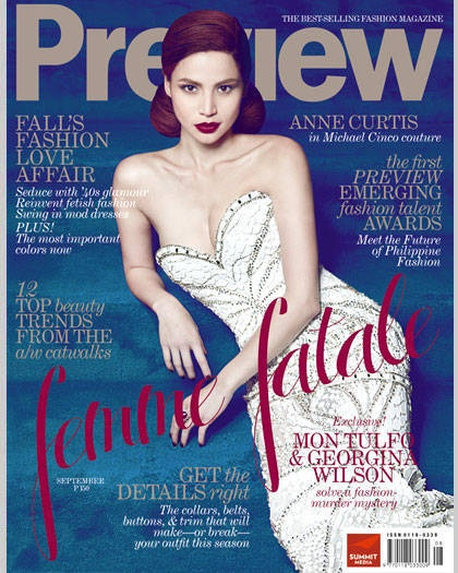 Anne Curtis, September 2011 | Preview Covers | Pinterest ...