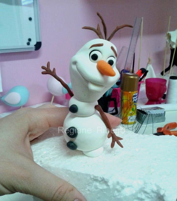 DIY ♡  modelagem boneco de neve OLAF  - filme FROZEN