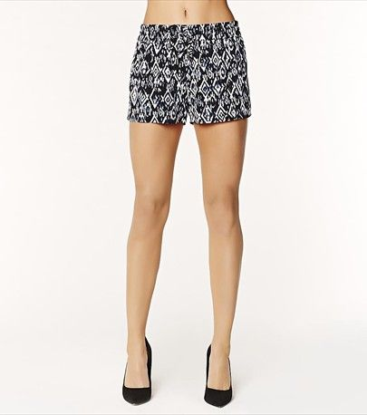 Get a fabulous and relaxed look with our navy ikat soft short!