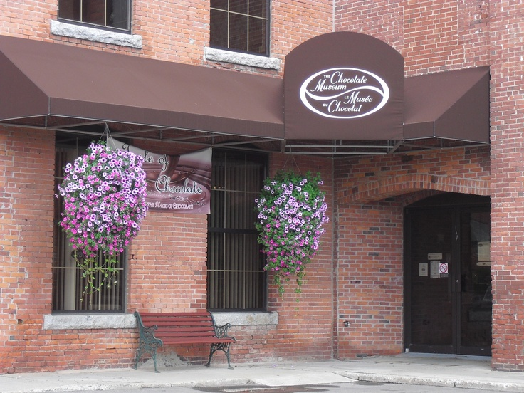 The outside of The Chocolate Museum in downtown St. Stephen, New Brunswick, Canada. It's located in the original Ganong candy factory!