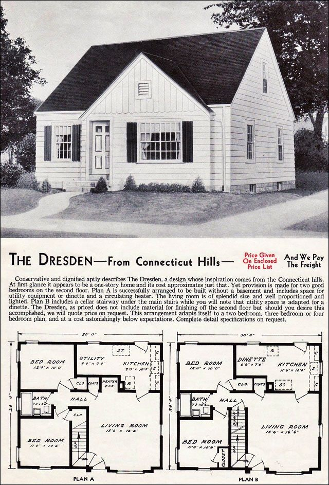 The dresden kit house floor plan made by the aladdin for House plan companies