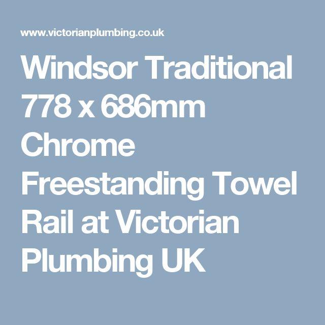 Windsor Traditional 778 x 686mm Chrome Freestanding Towel Rail at Victorian Plumbing UK