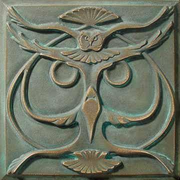 Bronze Art Nouveau Owl Tile ~ Lewellen Studio: Art Crafts, Art Nouveau, Bronze Owl, Crafts Styles, Art & Crafts, Design Art, Bronze Art, Art Tile, Design Bronze