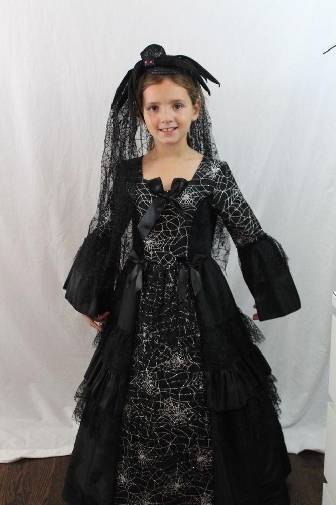 black widow bride spider queen witch deluxe halloween costume web veil new - Spider Witch Halloween Costume