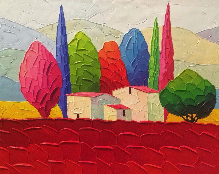 Art Expo New York City April 15 2016 landscape painting by Sveta Esser