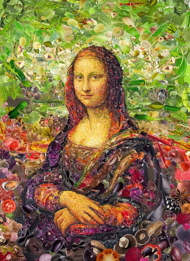 """A mosaic portrait of Lionardo's Gioconda for the 5th cover of Womankind Australia magazine.  Best viewed large. Attention: Big file. (7273 x 10000 = 24.2"""" x 33.3"""" @ 300 ppi)  Made with custom developed scripts, hacks and lots of love, using my Mac, Studio Artist, the Adobe Creative Suite and good Mexican music.  See all my Editorial Illustrations.  Many thanks to Antonia Case and everyone @ Womankind."""