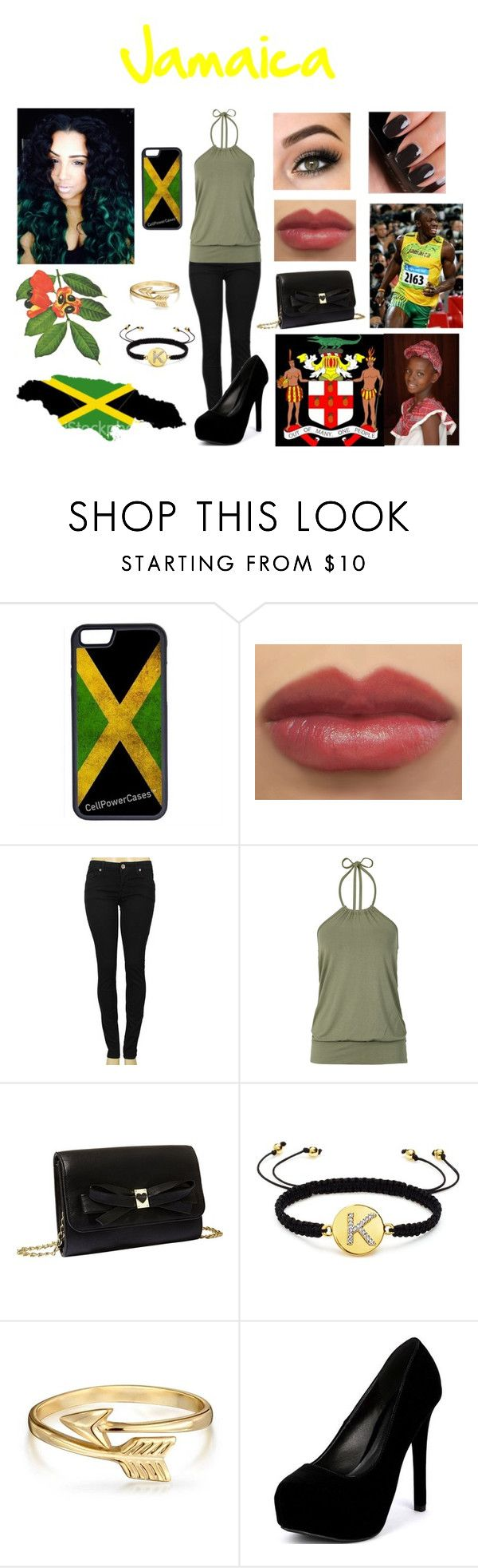 """Jamaica's Independence Day"" by superkaci-gordon ❤ liked on Polyvore featuring moda, CellPowerCases, Machine, Chanel, Betsey Johnson, Juicy Couture, Bling Jewelry y Qupid"