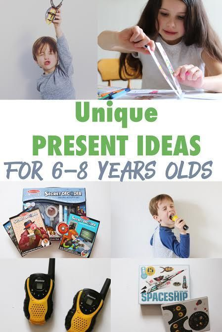 Unique Christmas Present Ideas for 6-8 year olds. Christmas present ideas for kids. Birthday Present ideas for children aged 6-8 years old. Fun toys for children to promote creativity and adventure. Outdoor toys for children. Creative toys for children. Book present ideas for children.