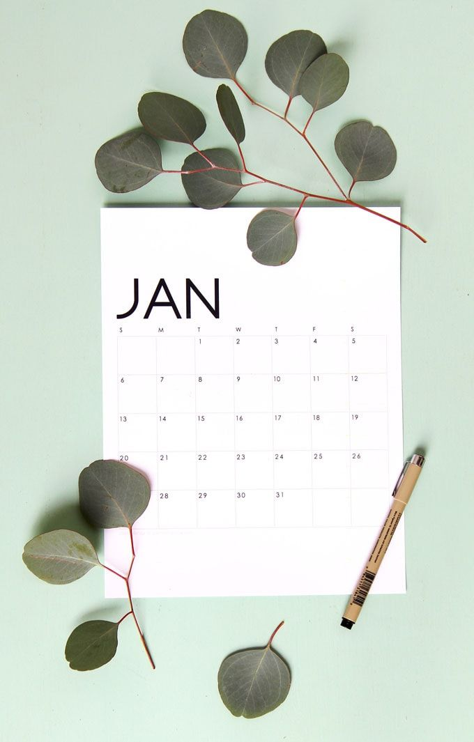 Beautiful Floral 2019 Calendar Monthly Planner Free Printables