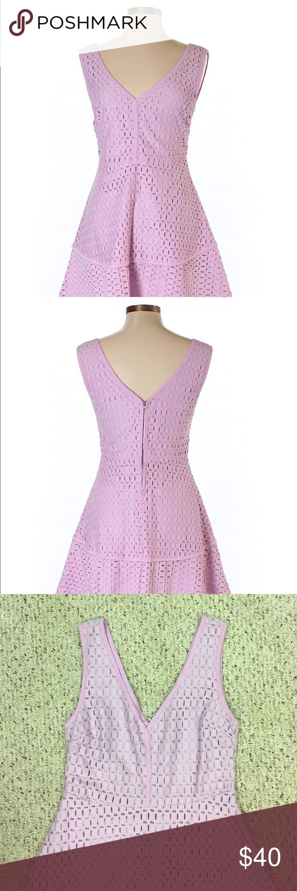 NWOT Cupcakes and Cashmere Dress beautiful lavender colored dress! Bought online, just too big for me! You can easily dress this up with heels or dress it down with sandals! 82% nylon, 18% cotton. Fits size 8 or 10! cupcakes and cashmere Dresses Midi
