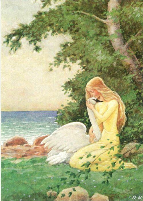 The Wild Swans -- Rudolf Koivu -- Fairytale Illustration.