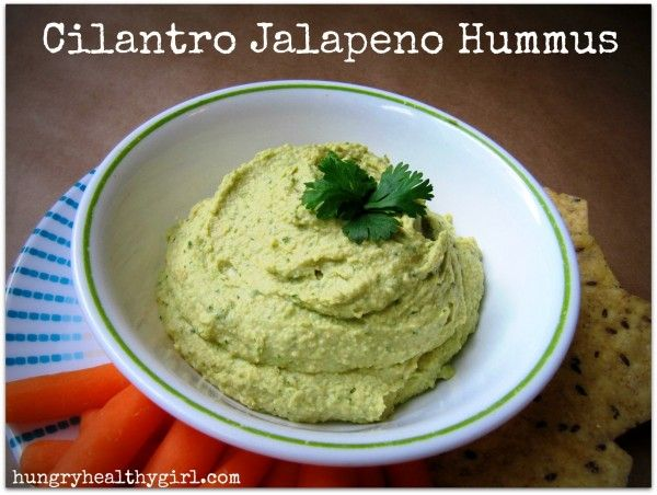 cilantro jalapeno hummus  http://www.kimscravings.com/2013/05/cilantro-jalapeno-hummus/
