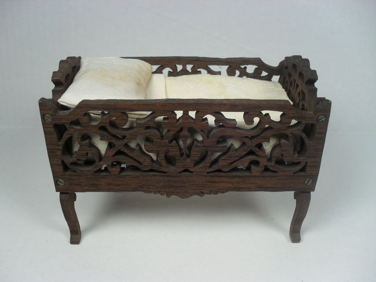 Antique Doll House Furniture  Wooden Fretwork Youth Bed or Crib  5  from  grannymares. 1825 best ASIAN DOLLHOUSE images on Pinterest   Dollhouses