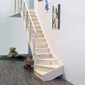Narrow stairs with angle Smal trappa i vinkel