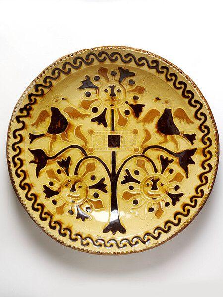 1740 Staffordshire slipware