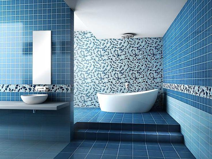 Blue Bathroom Wall Tile Ideas