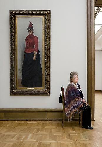 Ilya Repin's Portrait of Baroness Varvara Ivanovna Ikskul von Hildenbandt, State Tretyakov Gallery, 2008 Archival pigment print