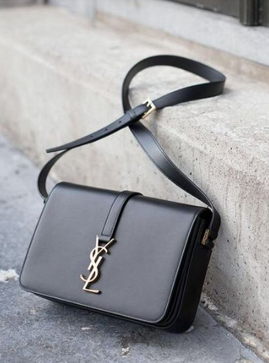 b1118e02d14 Classic Medium Monogram Université shoulder bag by Yves Saint Laurent. YSL. Saint  Laurent Paris. Logo. crossbody bag. Stylish. Styling. Chic. Glamour.