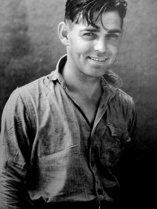 Clark Gable, 1930s. Strange to see him without the trademark moustache.