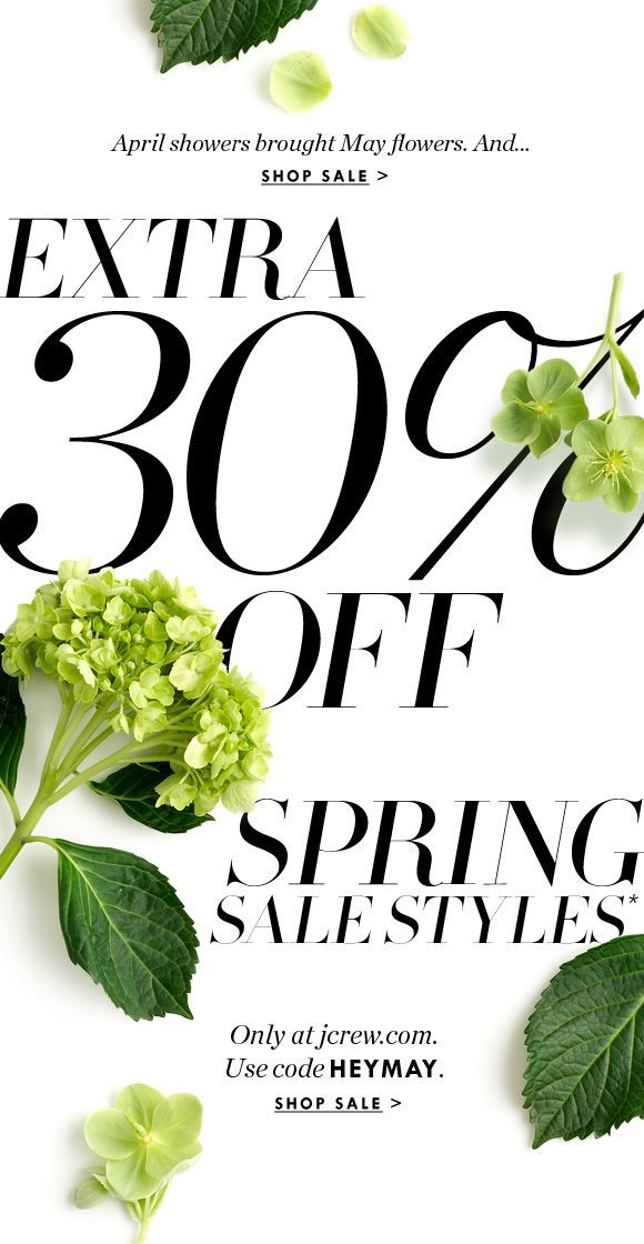 Sale Email Design / JCrew.com