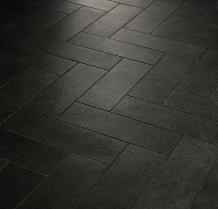 Image Result For Grey Tile Black Grout Fischgraten Fliese Kuchenboden Grauer Boden
